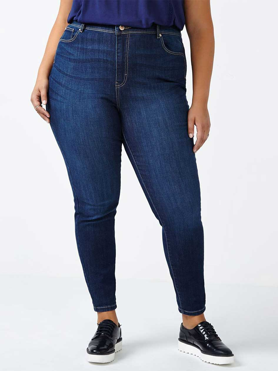 d/c JEANS Petite Straight Fit Skinny Jean