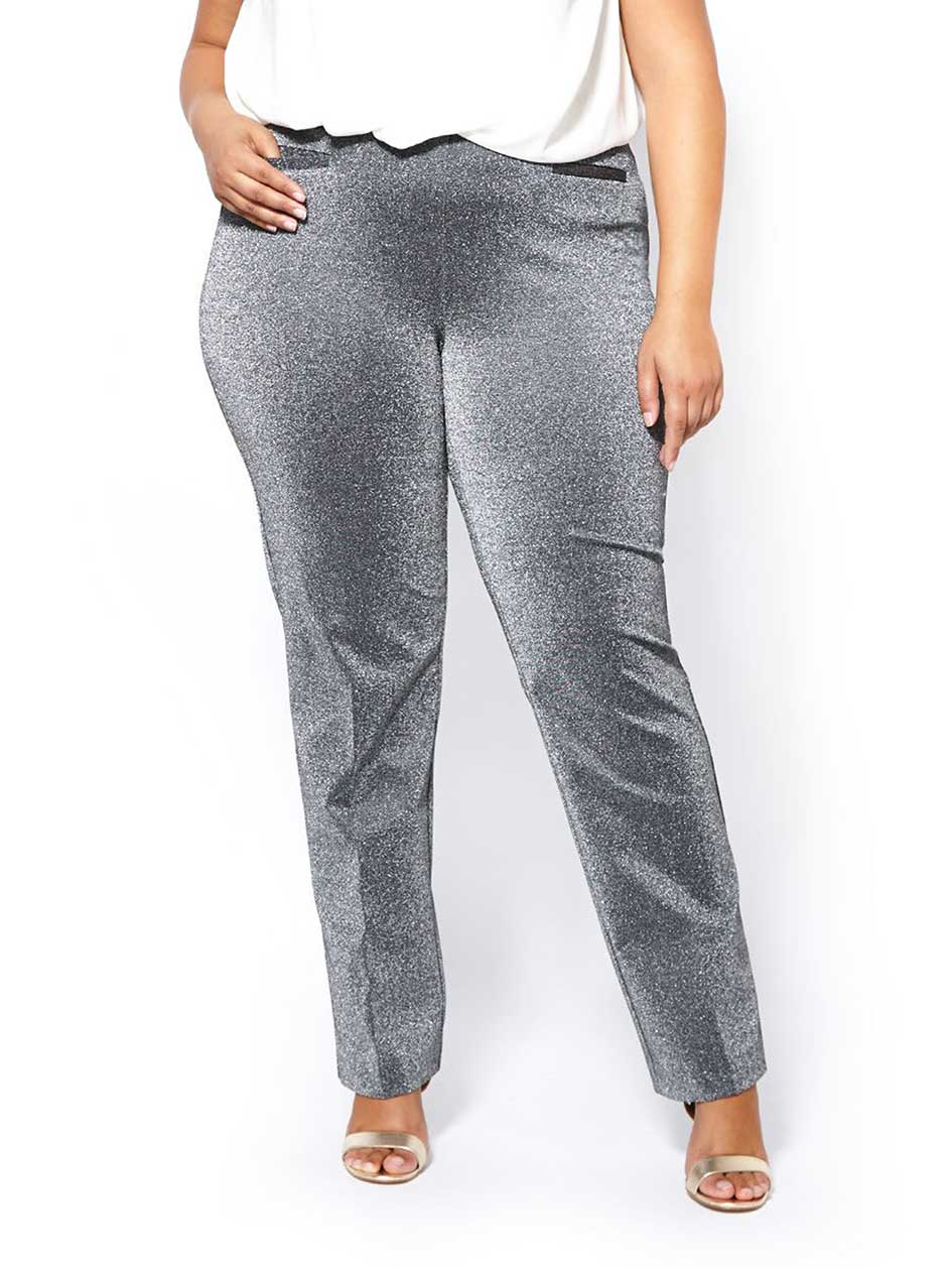 Savvy Fit Straight Leg Shimmer Pant