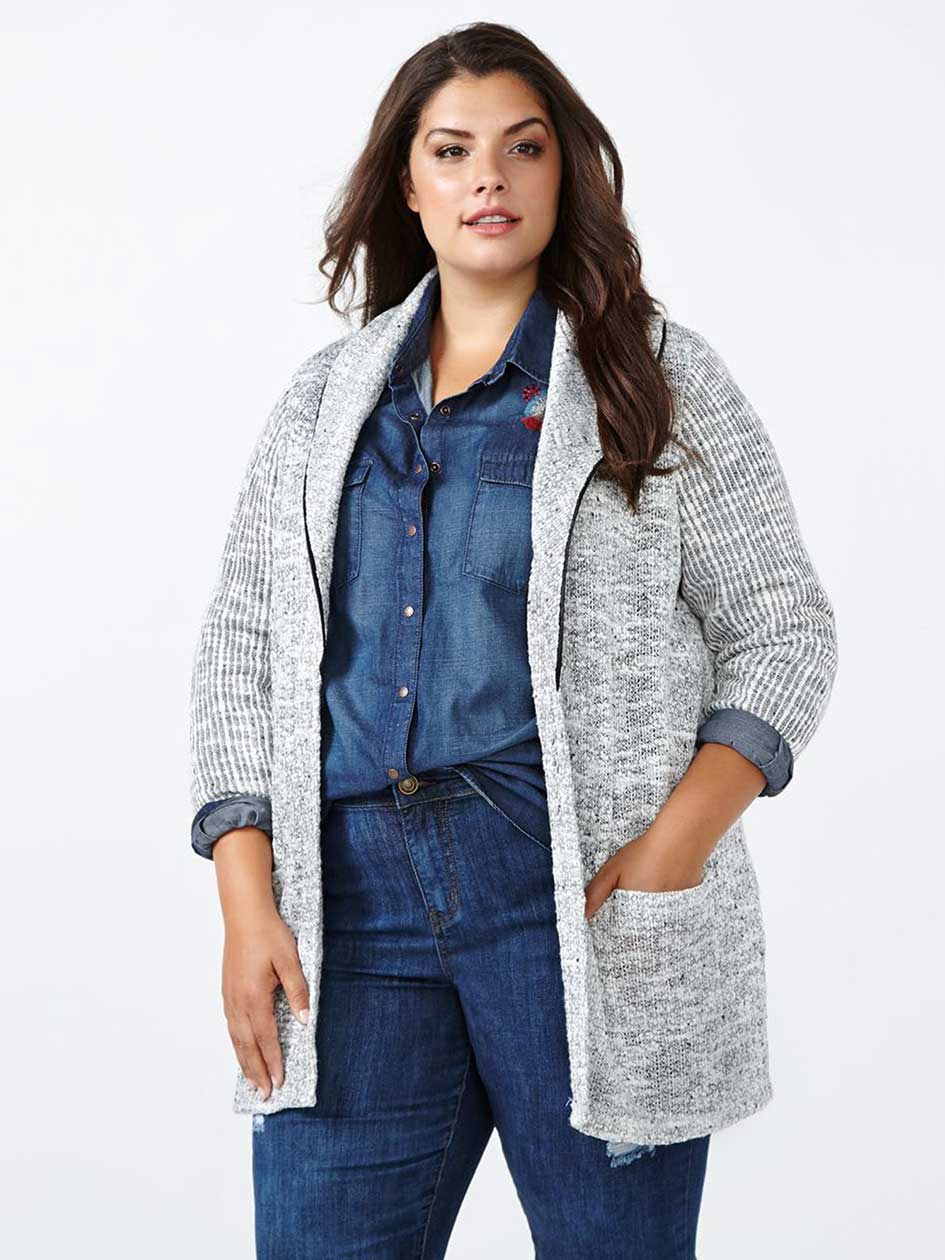 d/c JEANS Long Sleeve Cardigan