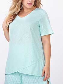 Ti Voglio Short Sleeve Cotton PJ Top