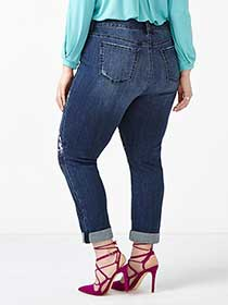 MELISSA McCARTHY Embroidered Skinny Jean