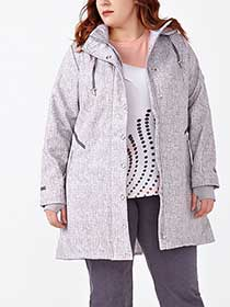 ActiveZone Plus-Size Long Sleeve Hooded Jacket