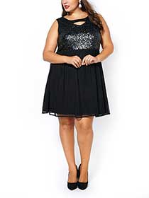 Sleeveless Dress with Sequins