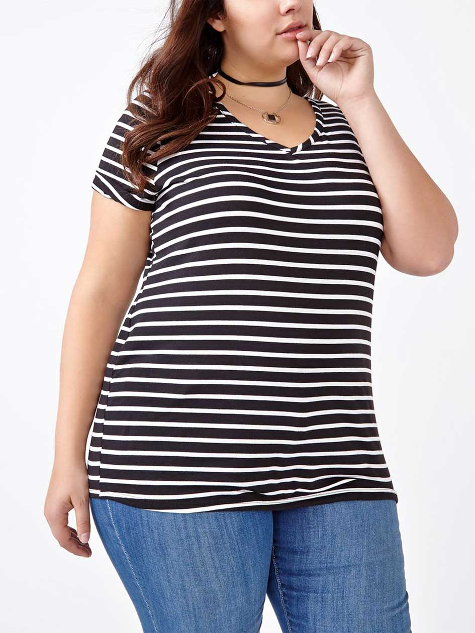 Shaped Fit Striped T-Shirt