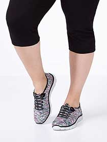 Skechers Wide-Width Relaxed Fit Printed Sneakers