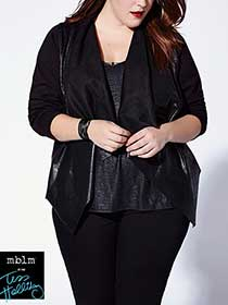 Tess Holliday - Long Sleeve Coated Cascade Jacket