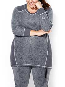 Athleisure - Long Sleeve Tunic Pullover