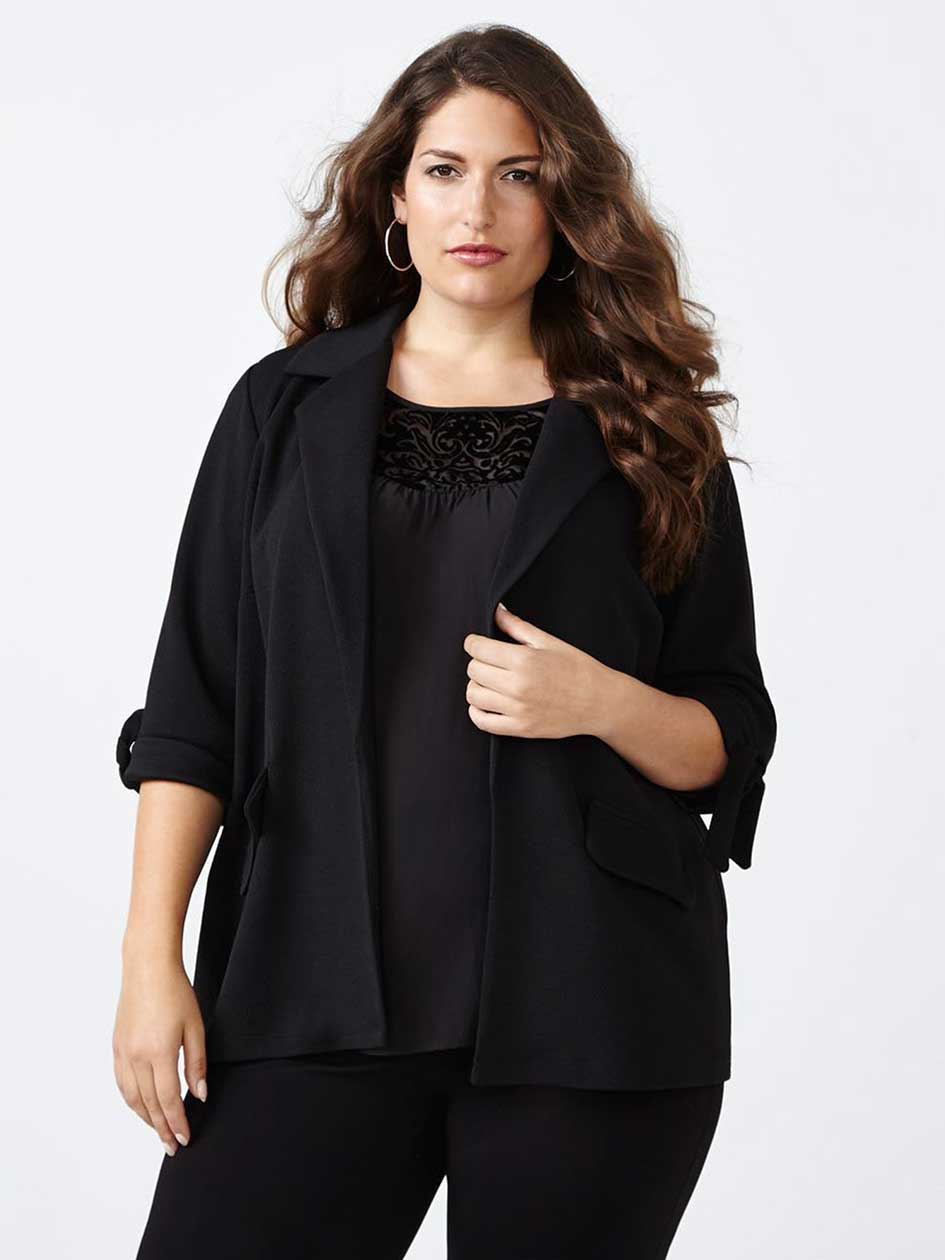 Knotted Elbow Sleeve Jacket