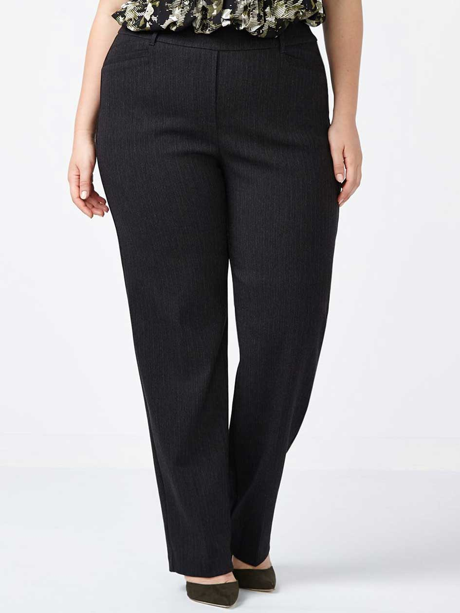 ONLINE ONLY - Tall Savvy Straight Leg Striped Twill Pant