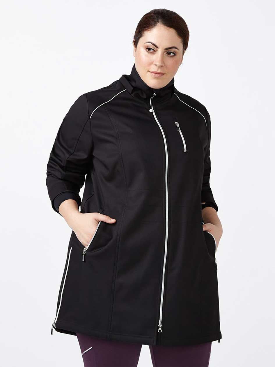 ActiveZone Long Plus-Size Hooded Jacket