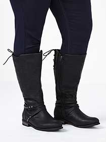 Wide-Width Lace-Up Boots