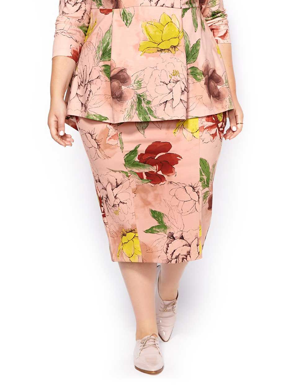 MELISSA McCARTHY Printed Pencil Skirt