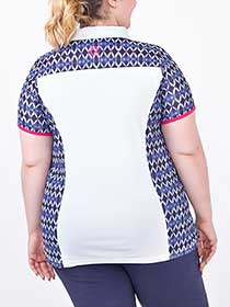 Sports - Plus-Size Printed Golf Polo Shirt