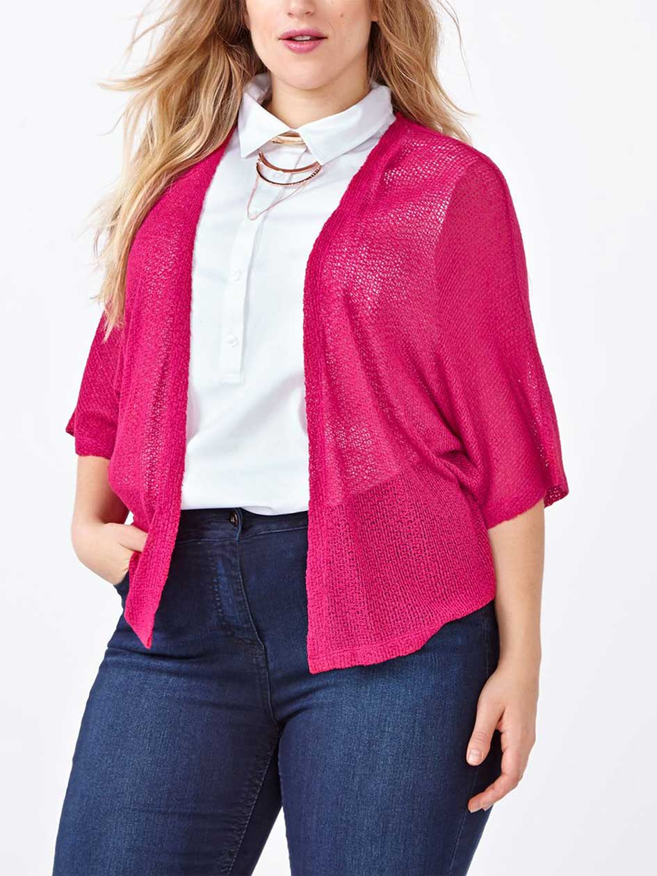 d/c JEANS Short Sleeve Shrug Cardigan