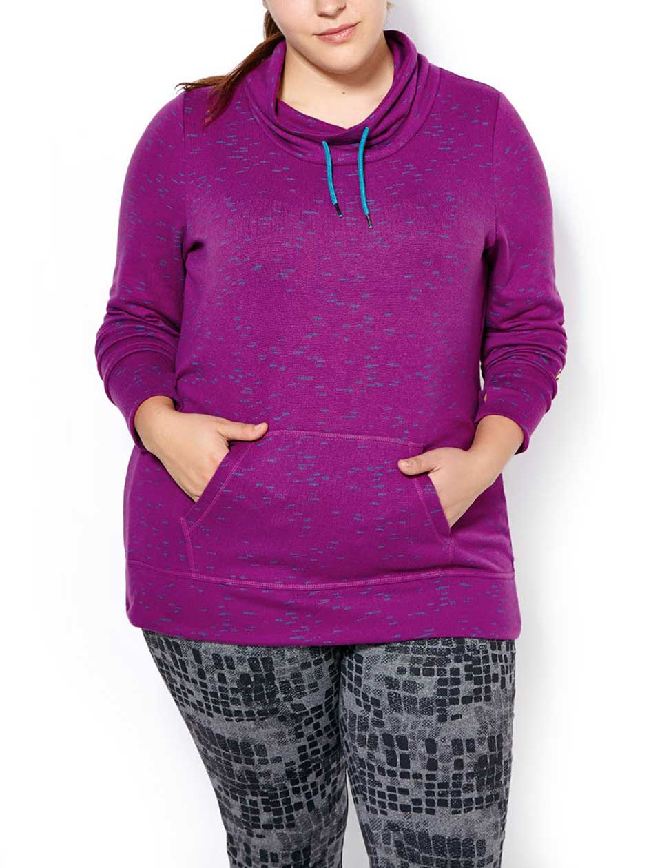 Sports - Long Sleeve Plus-Size Pullover