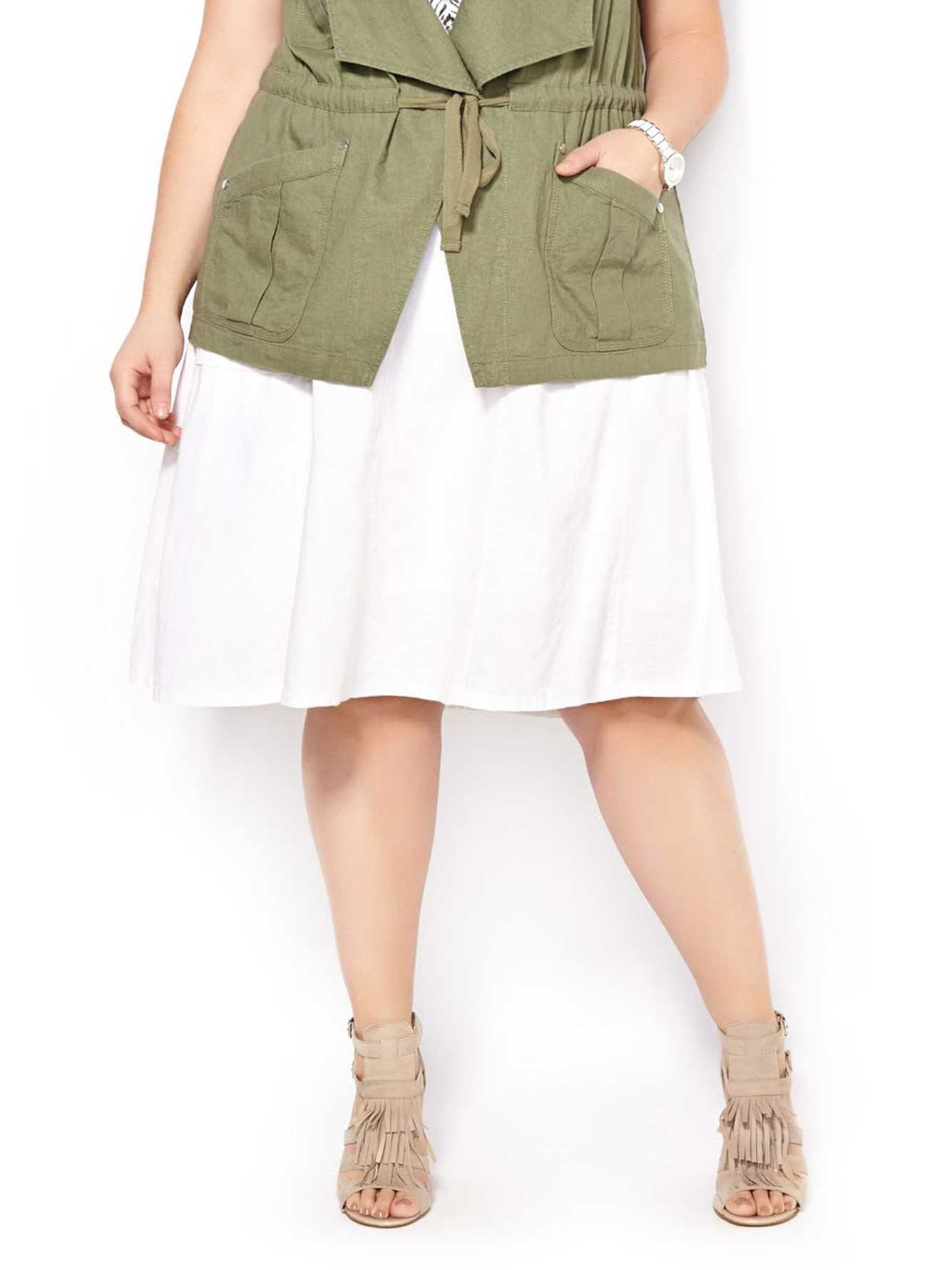 Flared Linen Skirt 41