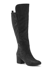 Wide-Width Tall Faux-Suede Boots