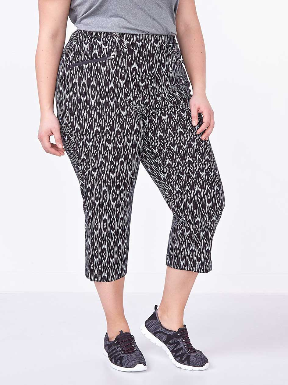 Sports - Plus-Size Printed Golf Capri
