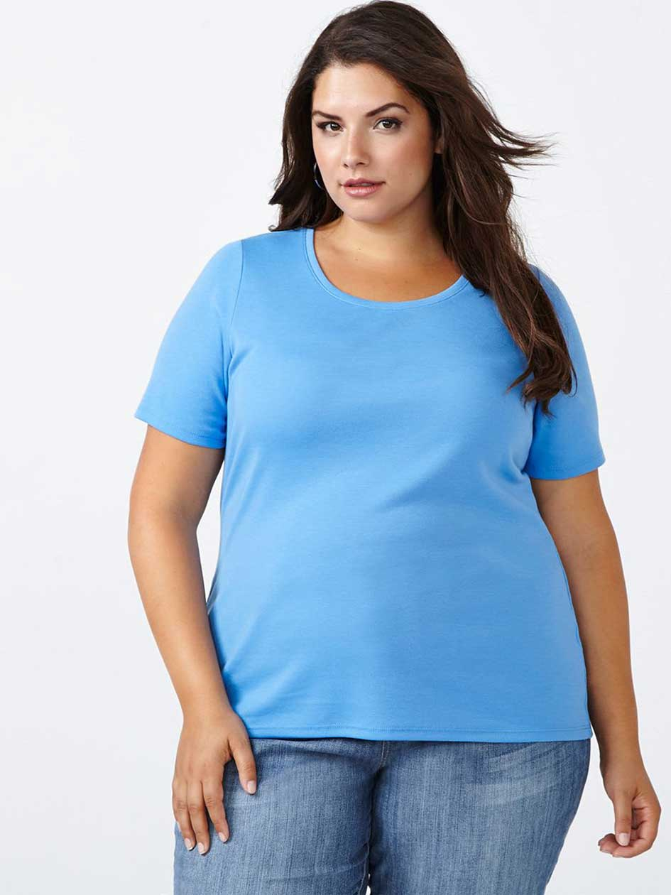 Curve Fit Scoop Neck T-Shirt