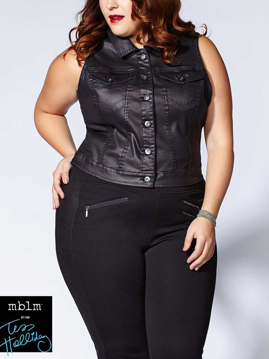 Tess Holliday - Sleeveless Denim Vest