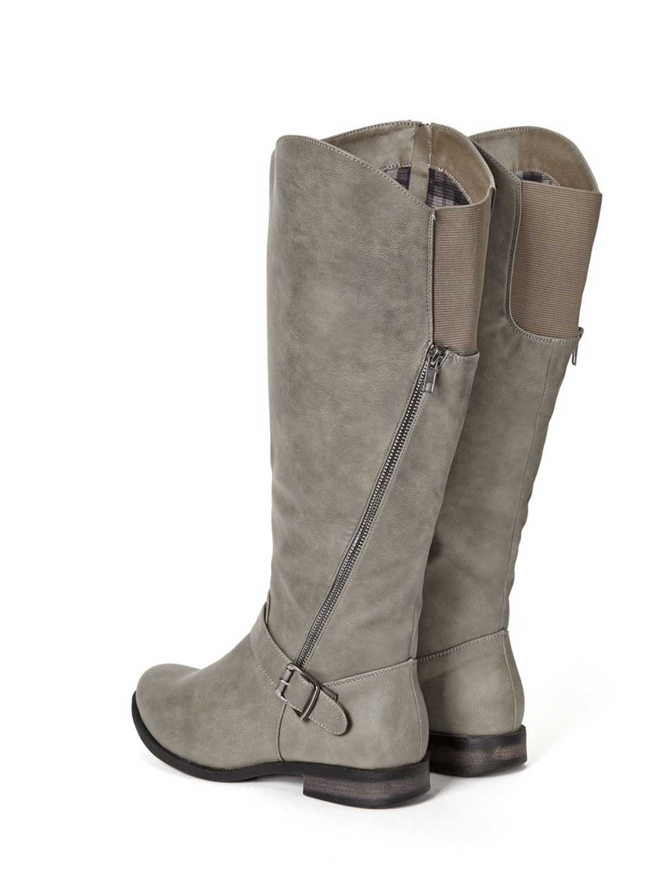 wide width faux leather boots penningtons