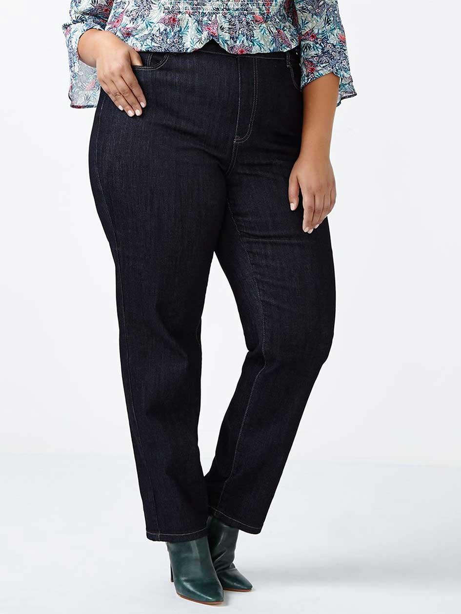 d/c JEANS Petite Curvy Fit Straight Leg Jean