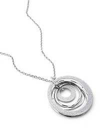 Long Necklace with Circle Pendant