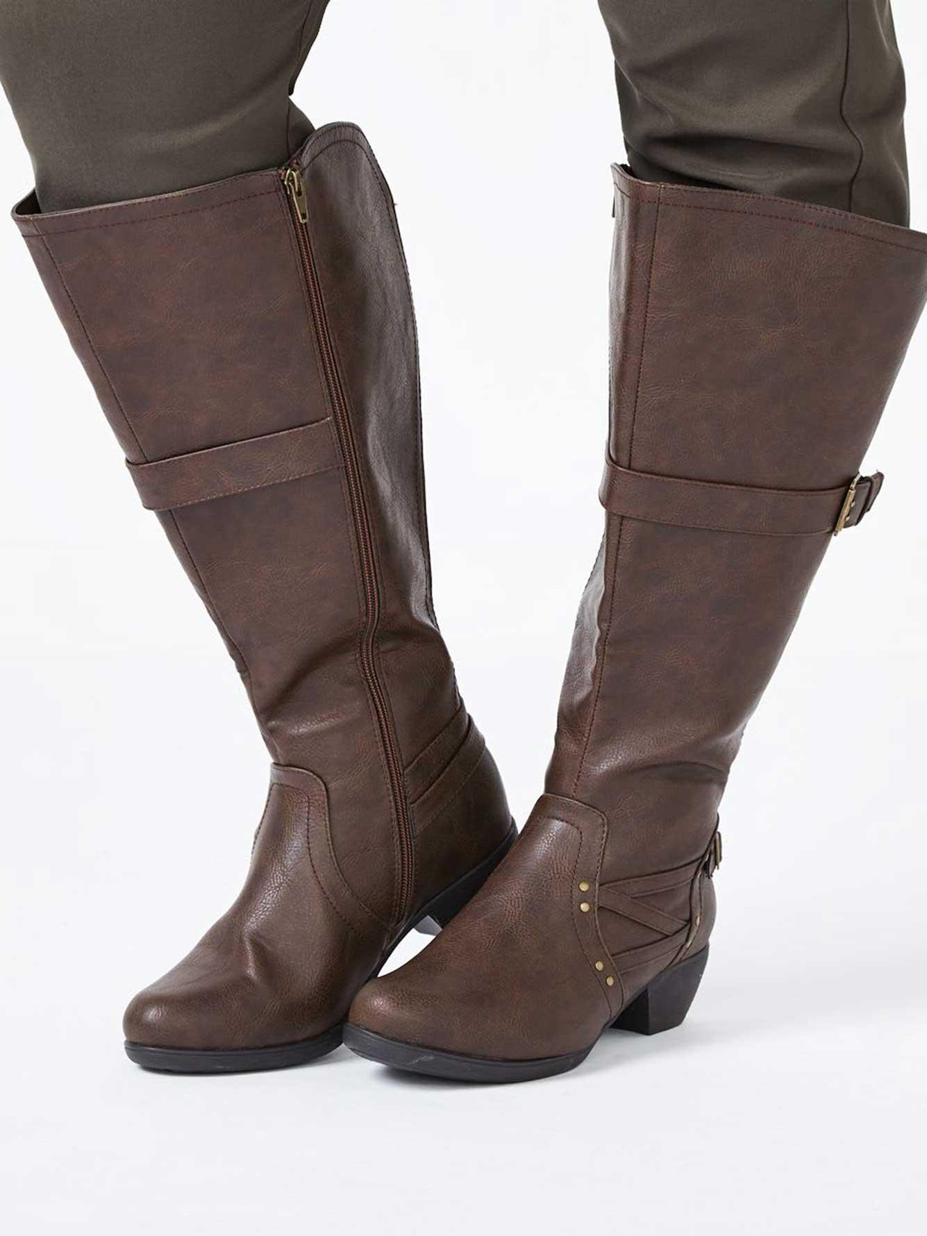 knee high wide width boots penningtons