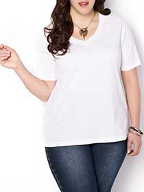 Shaped Fit Basic T-Shirt
