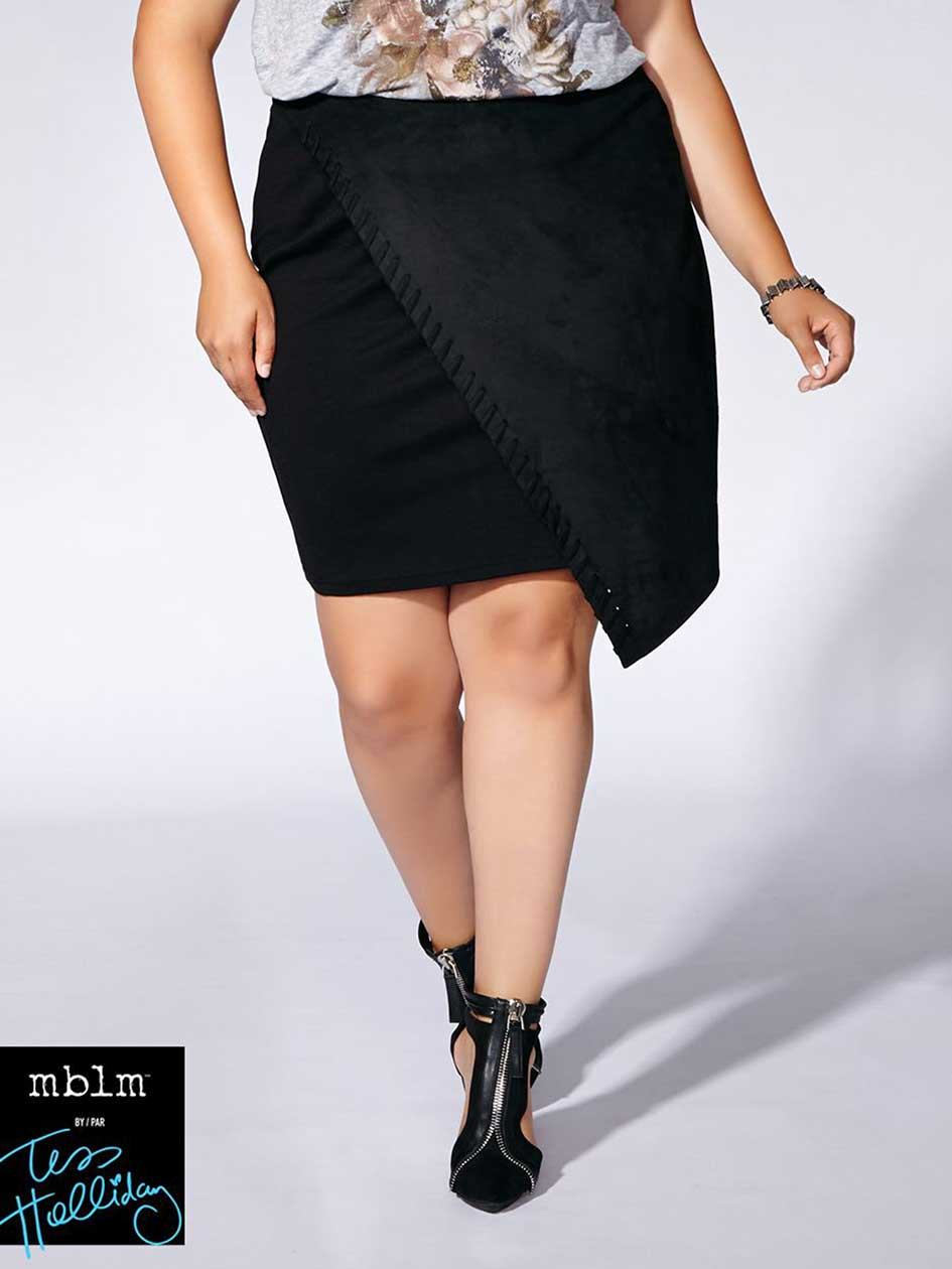 Tess Holliday - Mixed Media Wrap Skirt