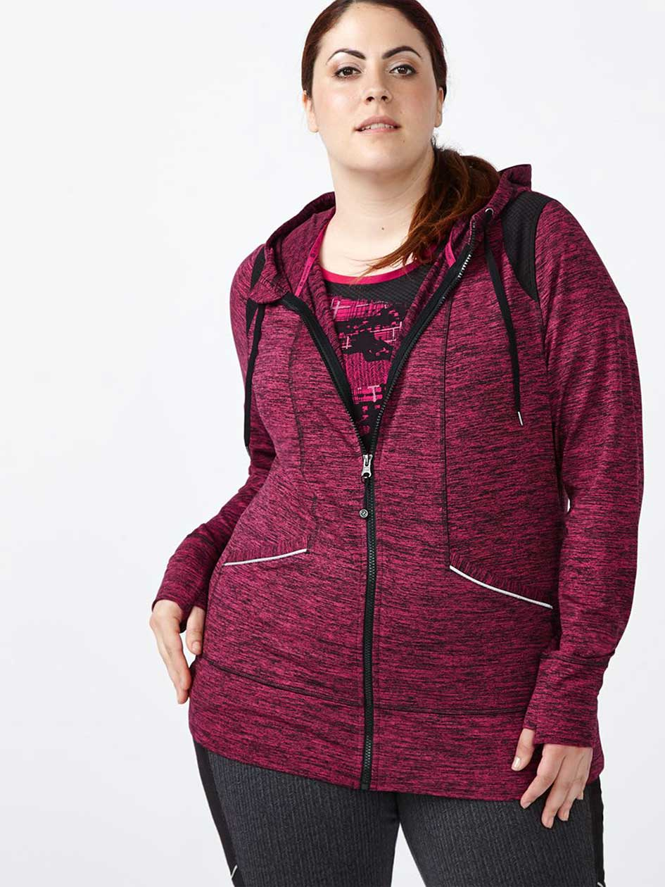 Essentials - Plus-Size Zip Up Jacket