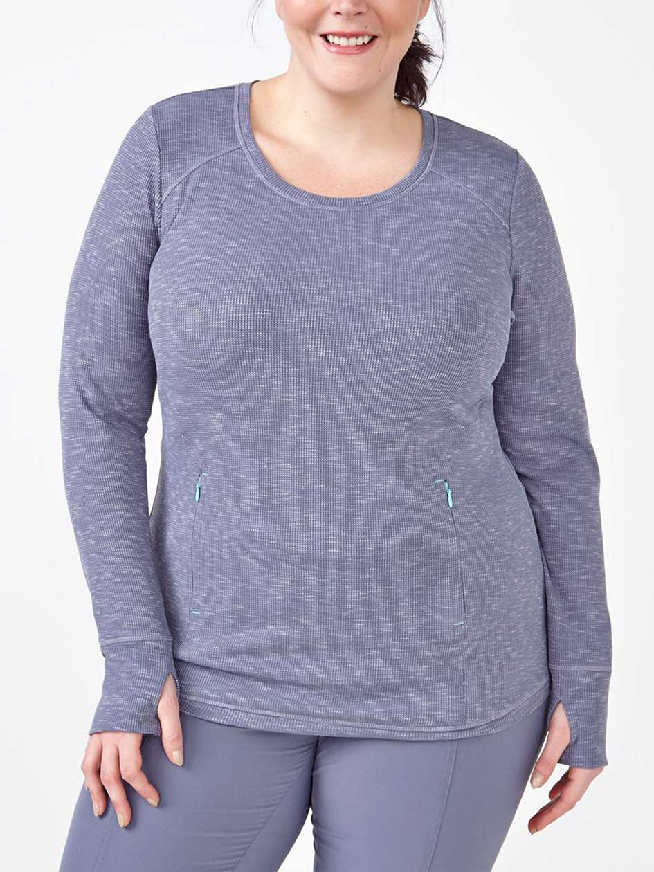 Sports - Plus-Size Ribbed Pullover
