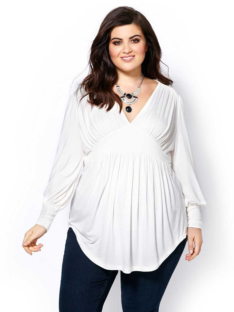 MELISSA McCARTHY Long Sleeve Peasant Top