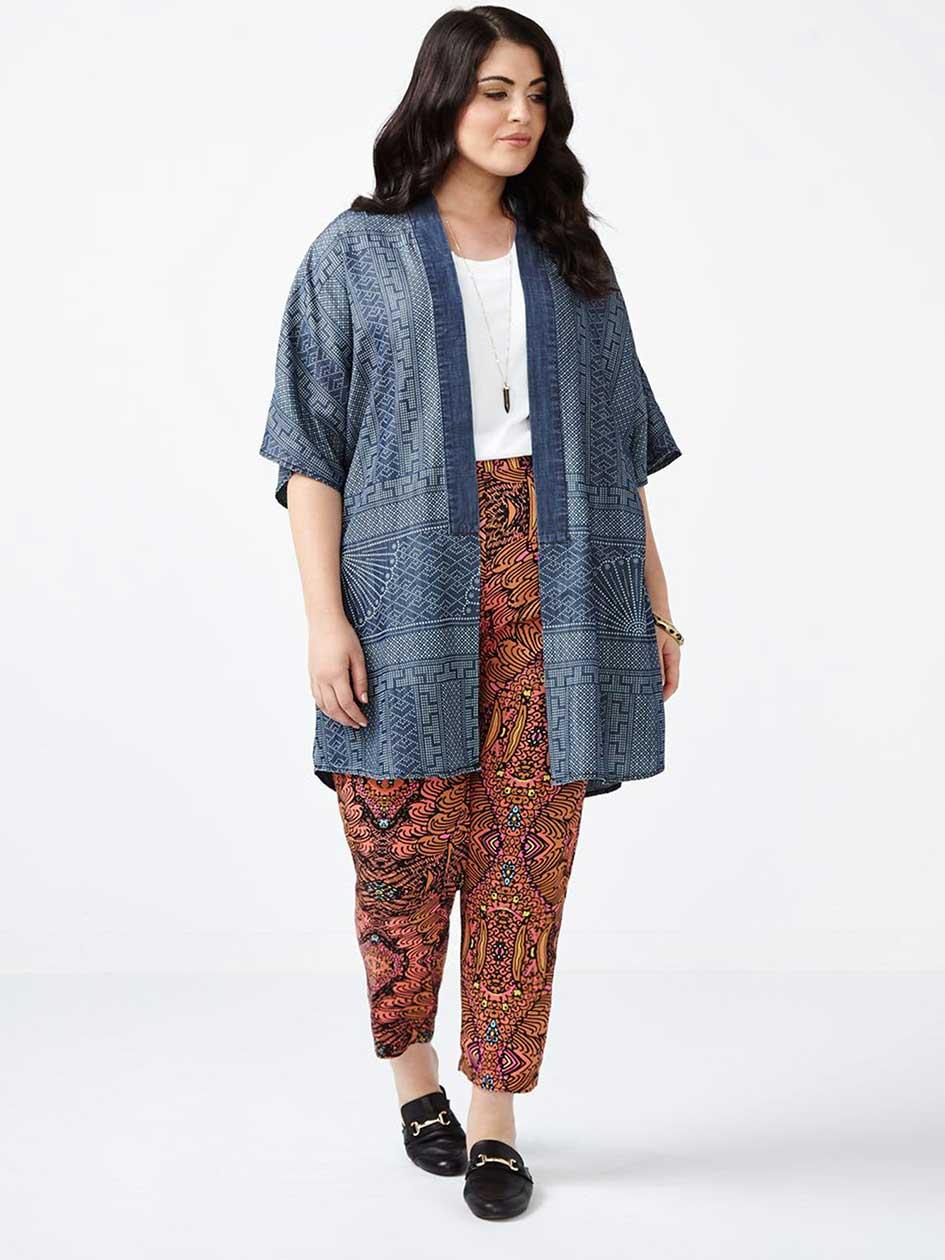 MELISSA McCARTHY Printed Kimono