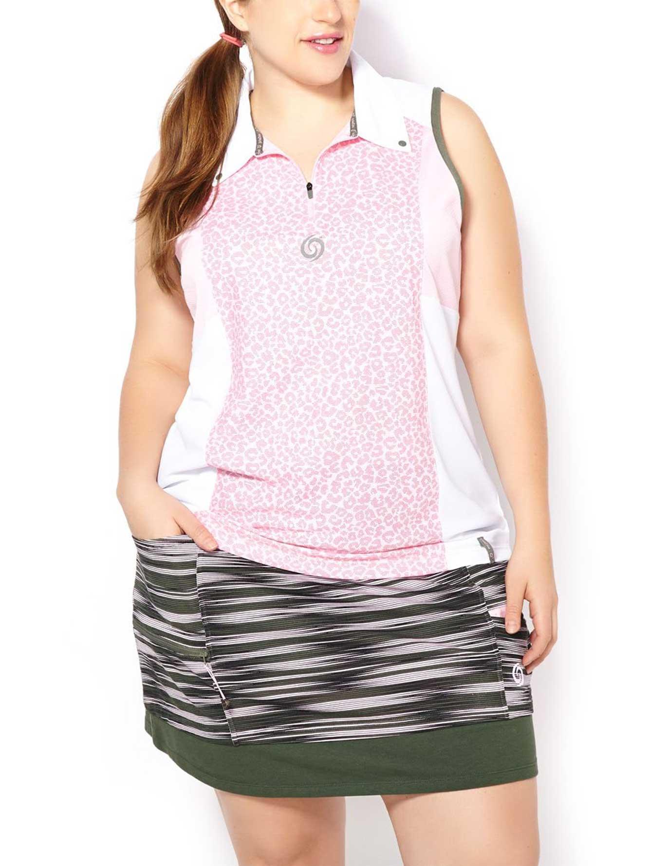Activezone golf plus size sleeveless polo shirt penningtons for Plus size polo shirts ladies