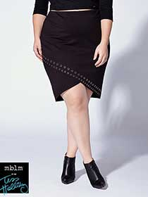 Tess Holliday - Eyelets Cross-Over Pencil Skirt