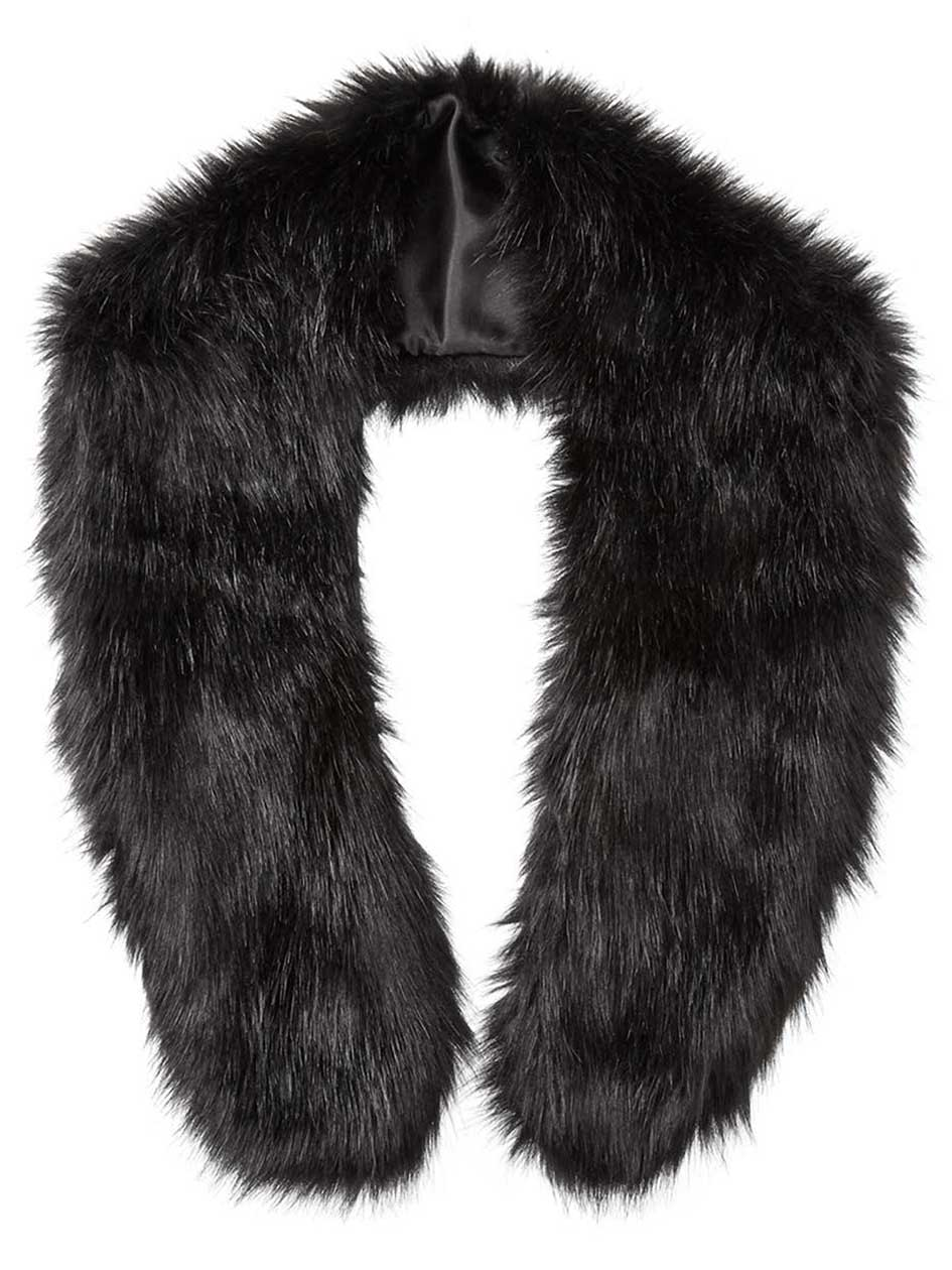 Faux-Fur Shawl Collar