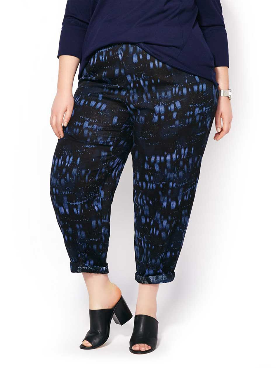 MELISSA McCARTHY Soft Cotton Printed Pant