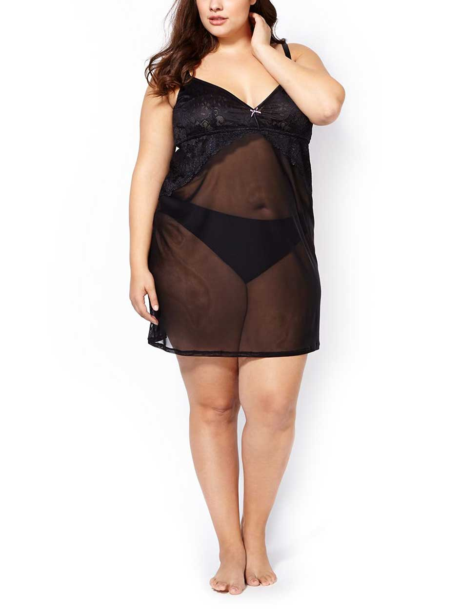 Ti Voglio Sheer Sleep Chemise with Lace