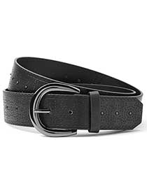 Textured Faux-Leather Belt