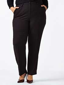 Curvy Fit  Patterned Straight Leg Pant