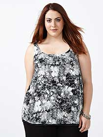 Reversible Dual-Layer Cami with Print