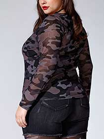 Tess Holliday - Set of Camo Top with Cami