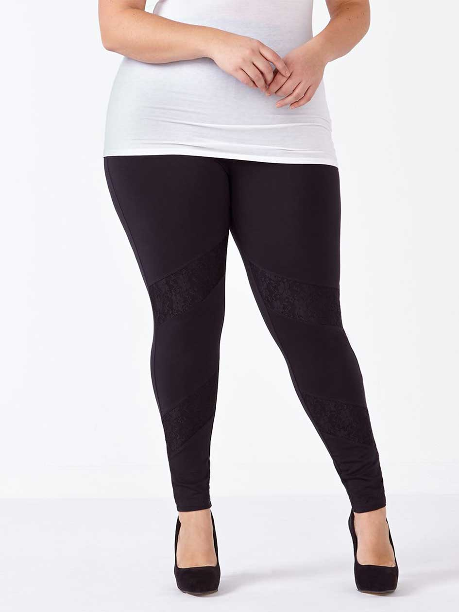 Legging with Lace Inserts