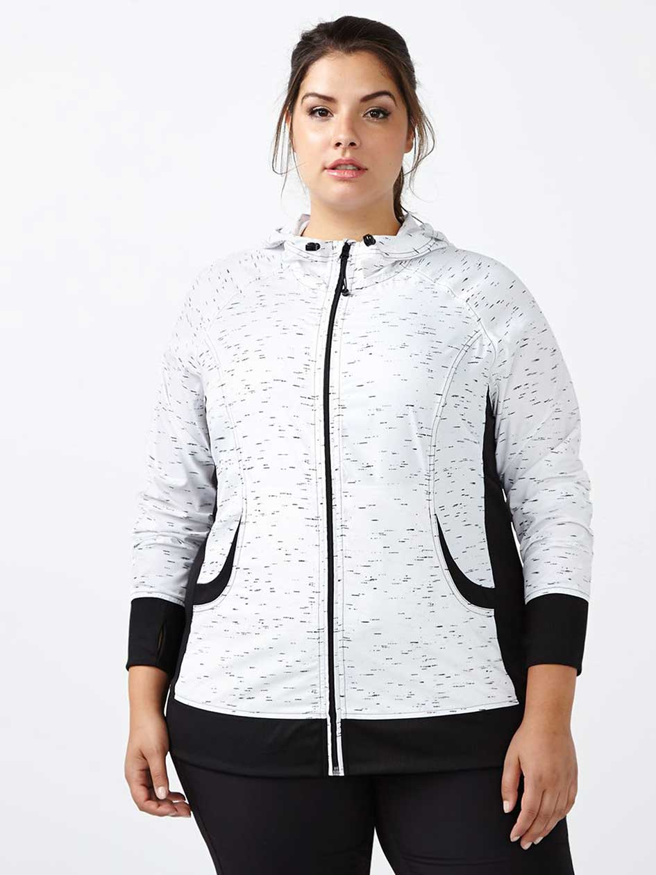 Essentials - Plus-Size Printed Rain Jacket