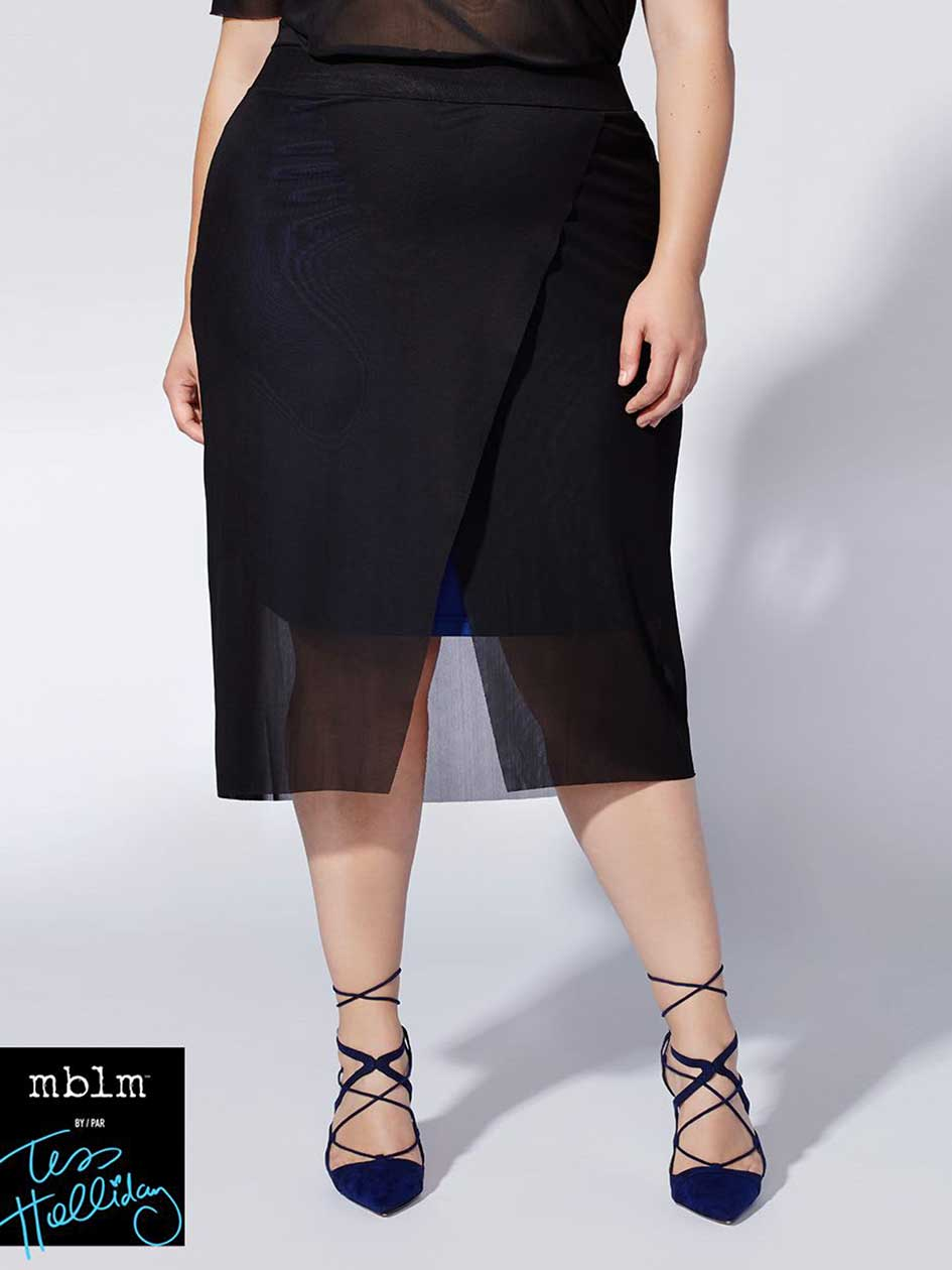 Tess Holliday - Mesh Skirt with Lining