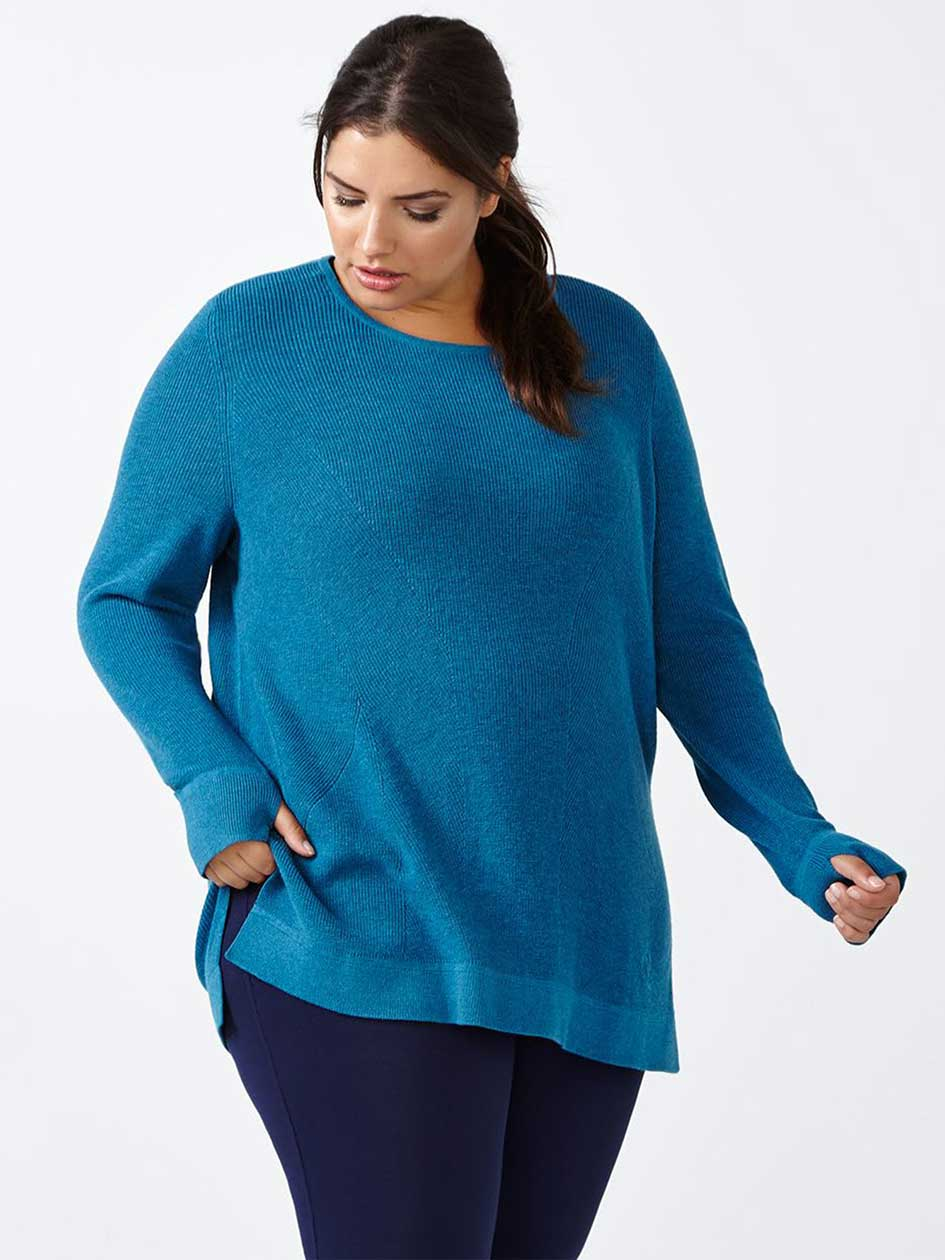 Essentials - Plus-Size Long Sleeve Sweater