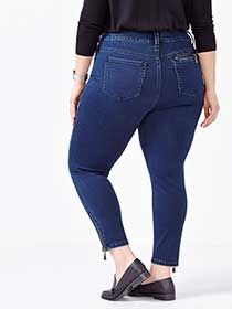 MELISSA McCARTHY Pencil Ankle Jean with Zippers