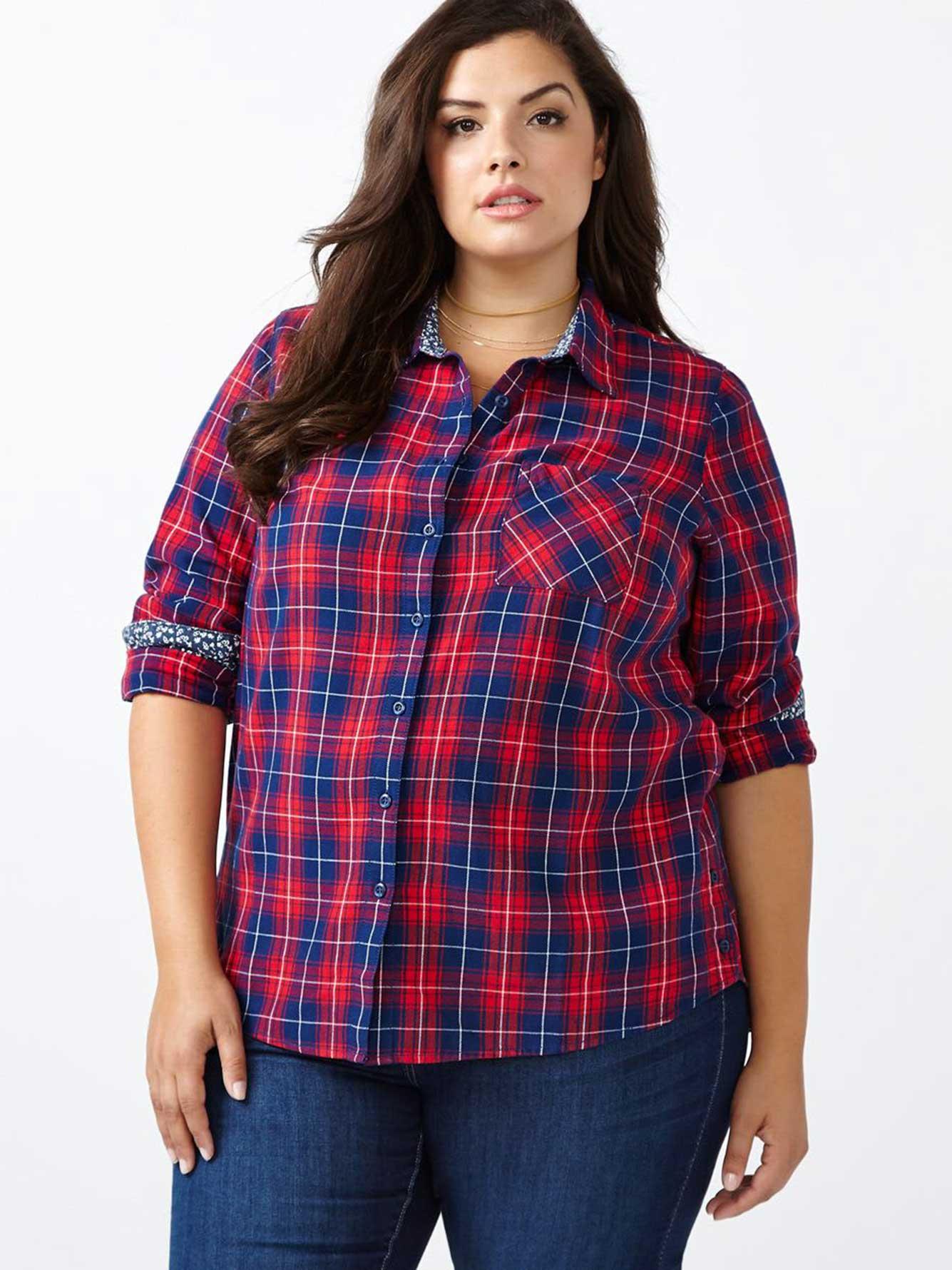 d c jeans cotton plaid shirt penningtons