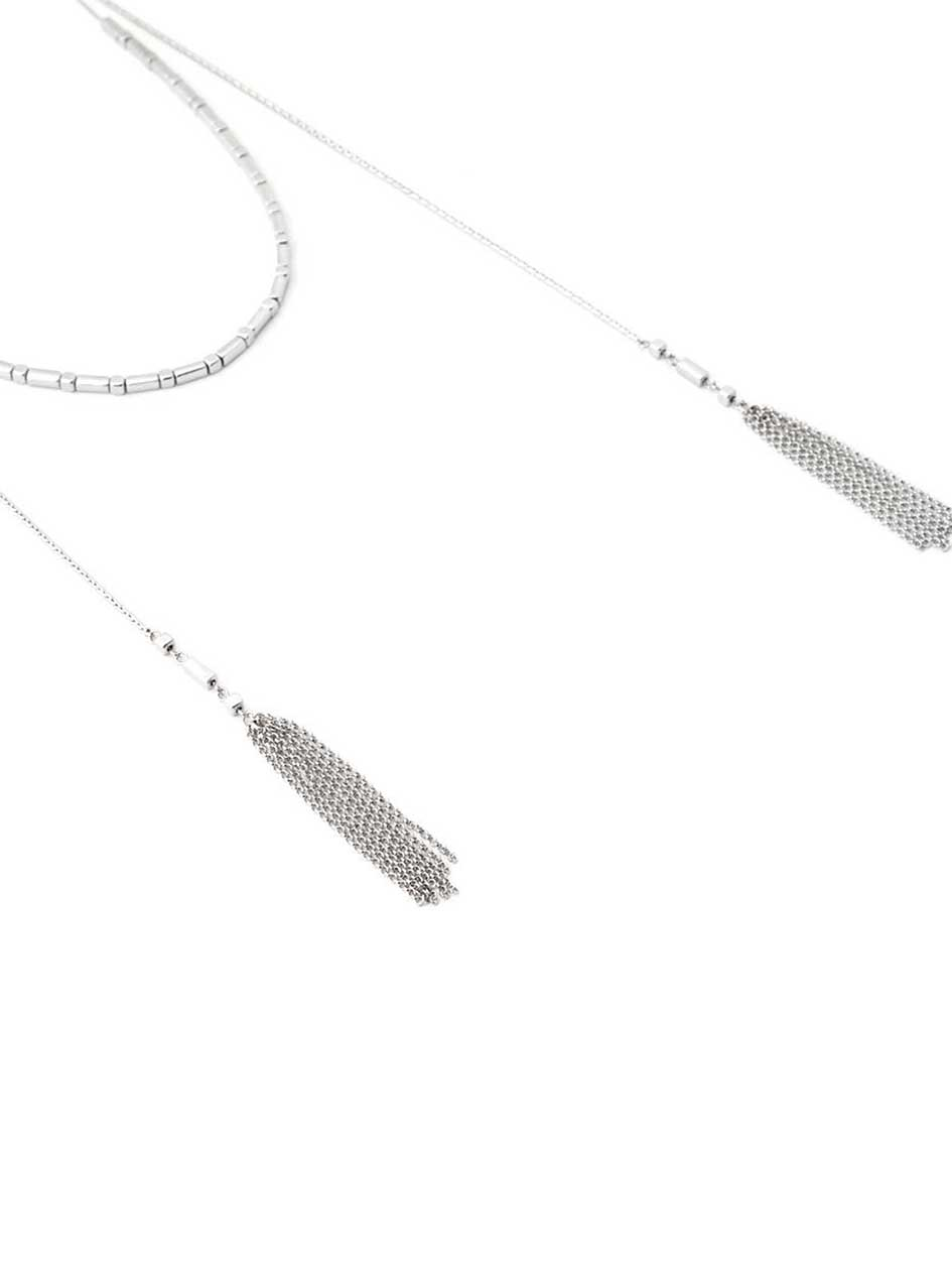 Short Necklace with Tassels